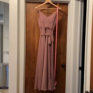 Dessy sienna lux chiffon bridesmaid dress